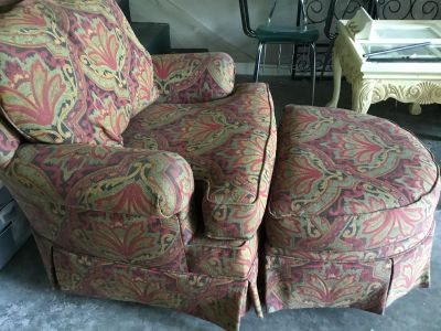 Norwalk chair and ottoman