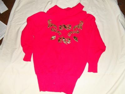 Red pull over knit sweater