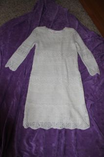 Cat and Jack Gold Sparkle Crochet Layered Dress size 10/12
