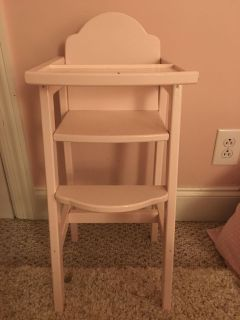 Adorable Doll High Chair and Doll Crib