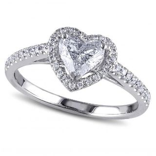 ***BRAND NEW***Clear Heart Cut Halo Ring***SZ 7
