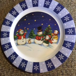 Cookie Plate with Snowman