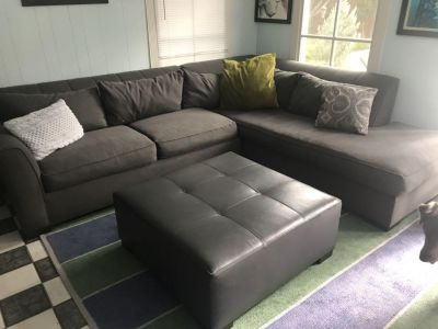 Large grey L shaped sectional
