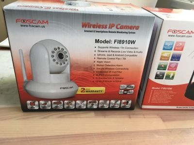 Bundle of 4 Foscam IP wireless cameras