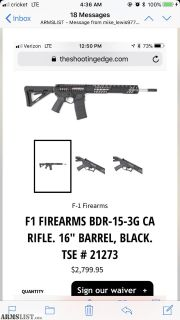 For Sale: F1 AR-15 3G
