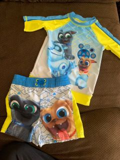 Disney Store puppy dog pals size 2/3 bathing suit !