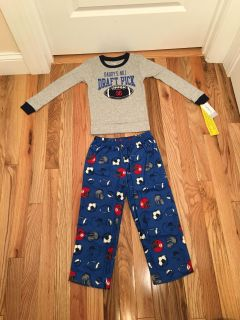 Carter s Football 2 Piece PJs. Pants are Flannel. Size 5t. Brand New with Tags.