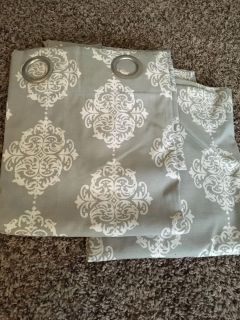 Two curtain panels