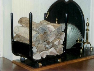 Fire place wood rack on wheels