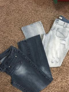 2 prs juniors size 13 jeans. I bought on here and didn t fit.