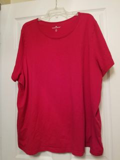 Woman Within Red Shirt Size 4X (34/36)