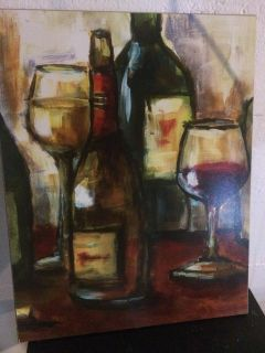 Wine Painting and Lamp