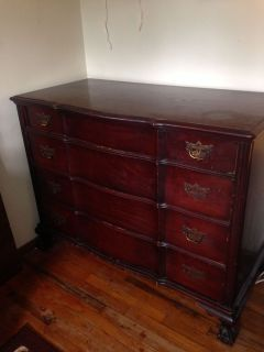 Matching Antique Dresser and Desk Set for Sale