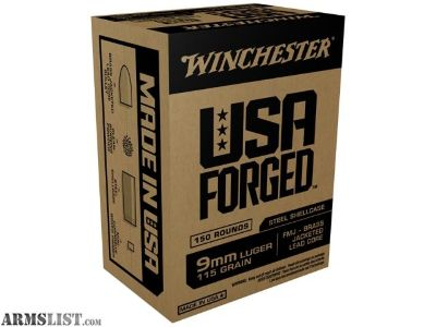 For Sale: 9mm Forged steel case ammo Winchester