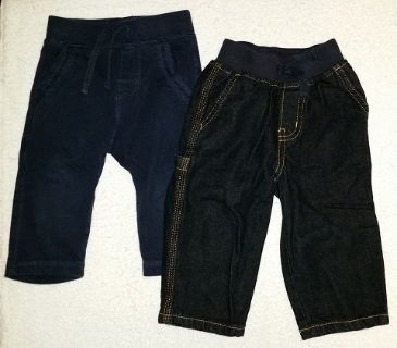 Boys Gymboree Carpenter Jeans and Baby Gap sweats- Toddler