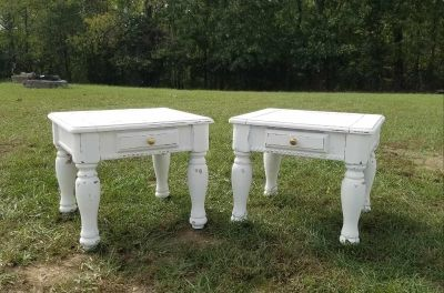 Country White Farmstyle End tables / Nightstands ($100 each)