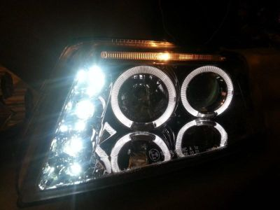 Purchase 2001-2005 VW PASSAT LED+HALO PROJECTOR HEADLIGHTS CHROME motorcycle in Upland, California, US, for US $100.00