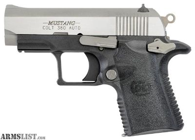 "For Sale: Colt Mfg Mustang Lite Single 380 Automatic Colt Pistol (ACP) 2.75"" 6+1 Black Polymer Grip Stainless Steel"