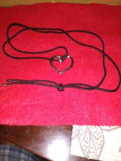 Silver Heart Pendent and Necklace