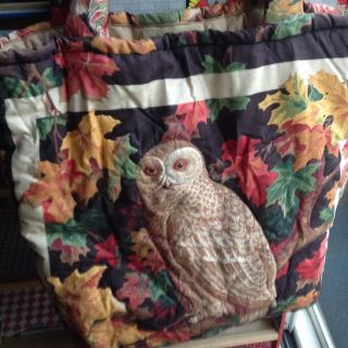 OWL QUILTED TOTE PURSE