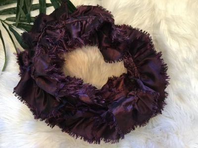 NWOT Gorgeous Purple Boutique Ruffled Scarf. Never worn! Scroll for a suggestions on how to style (not my photo).