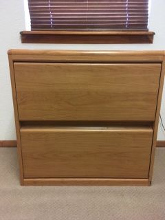 Wood look two drawer lateral credenza (2)