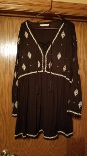 Black and white long tunic from Maurices