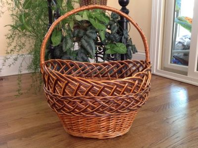 Basket, Decorative Willow Basket, Easter Basket, Willow Wicker Basket