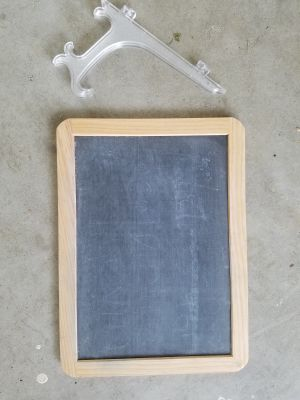 Small chalkboard and easel