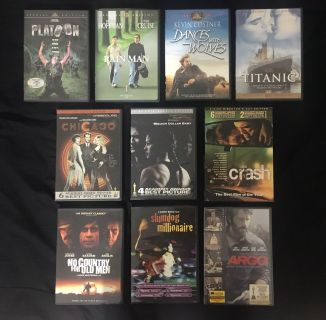 Best Picture Oscars DVD Lot