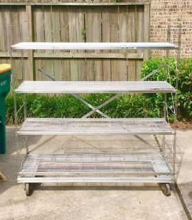 Stainless Steel Shelves (food grade) with Wheels
