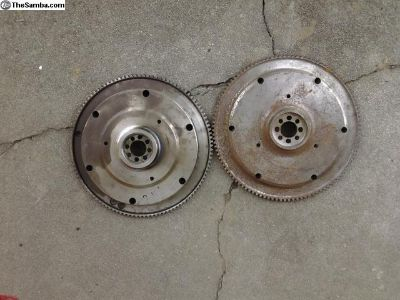 2 Old 6-Volt 180mm Lightened Flywheels Porsche? VW