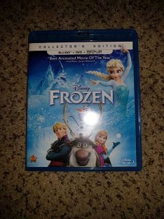 Frozen blu Ray and DVD