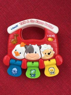 """Ages 3-24 Months. """"V-tech TALK & GO FARM RATTLE"""" Develop motor skills, colors and animal names. Plays 40 + Songs. Details below"""