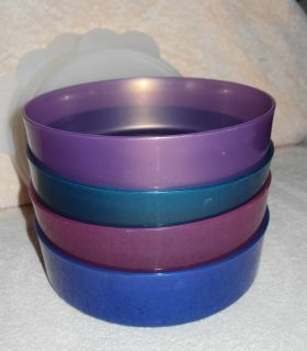 4 Microwavable Tupperware Bowls