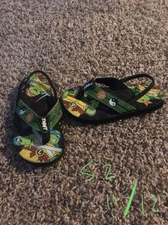 Size 11/12 ninja turtle sandals Xposted