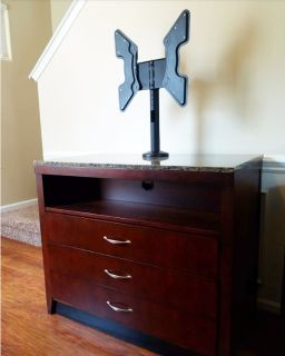 Dresser with built-in TV mount