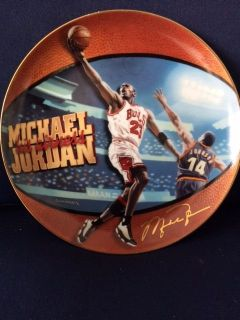 MICHEAL JORDAN 5 TIME NBA MVP COLLECTORS PLATE