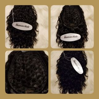 "Integration topper 8"" Loose Waves/Color #1 Black"