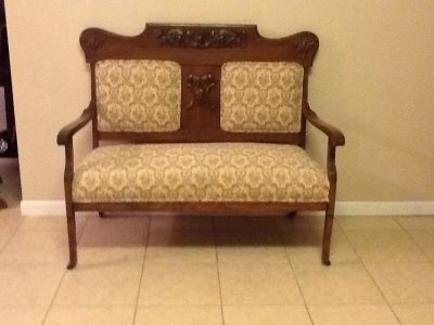 Settee with matching rocking chair