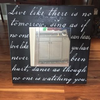 Square Mirror with Quote - 20 x20