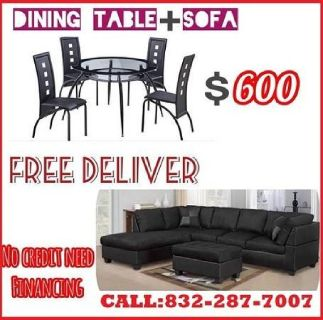 DINING TABLE AND SECTIONAL SOFA COUCH ON SALE