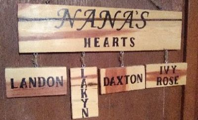 Solid cedar wooden wall decor. Simple give us the names of your loved one and we will do the rest..
