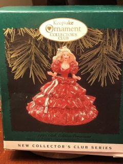Keepsake ornament collectors club holiday Barbie