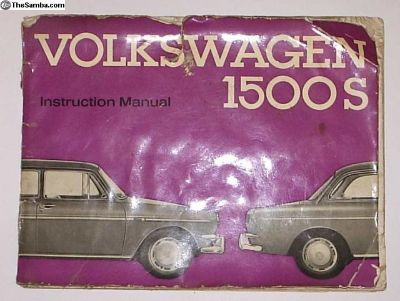 Owners Manual 63 64 Type 3 1500S