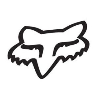 Purchase new fox racing sticker big huge black fox head good for window garage tool box motorcycle in Chaplin, Connecticut, US, for US $24.95