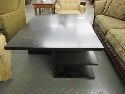 Large Coffee Table with Shelves
