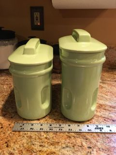 Set of 2 Royal Haeger Pottery Cannisters