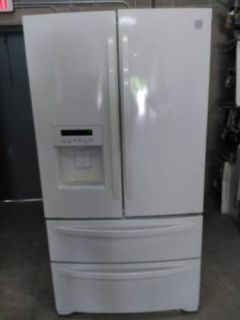 White Kenmore Quad French Door Fridge