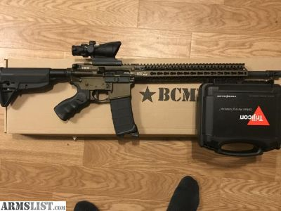 For Sale: Feautureless Ar15 BCM recce 16 dark bronze with ACOG ta31
